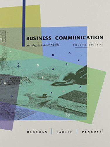 9780030330674: Business Communication: Strategies and Skills (The Dryden Press series in management)