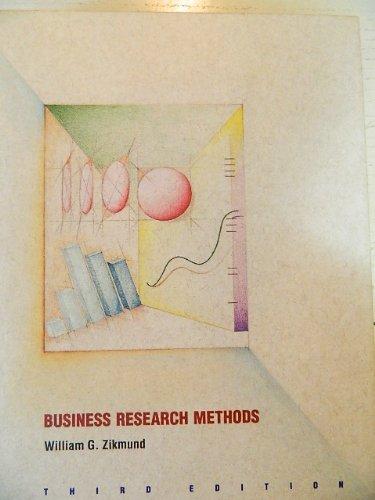 Business Research Methods: William G Zikmund