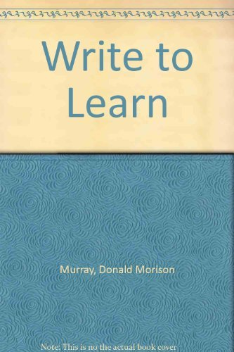 9780030331237: Write to Learn