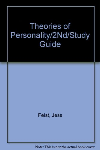 9780030331985: Theories of Personality: Study Guide, Second Edition