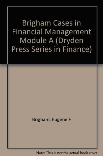 9780030332234: Cases in Financial Management (Dryden Press Series in Finance)