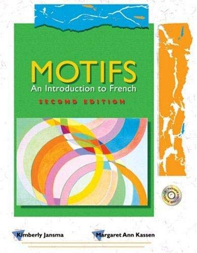 9780030333415: Motifs - An Introduction to French