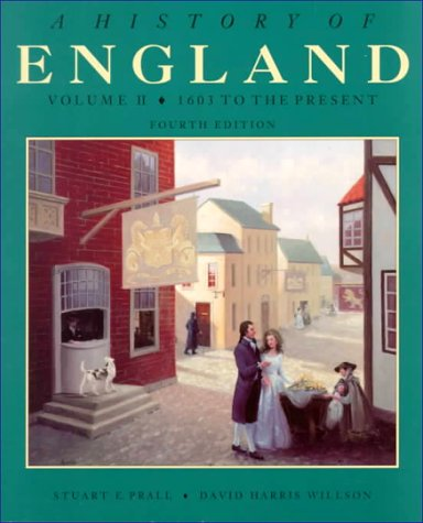 9780030334276: A History of England, Volume II, from 1603