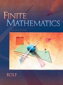 9780030334467: Finite Mathematics