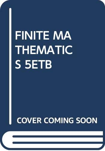 9780030334610: FINITE MATHEMATICS 5ETB