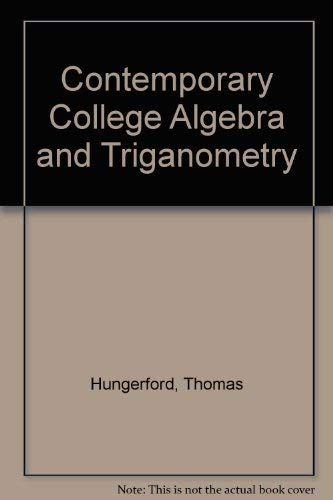 9780030338113: Contemporary College Algebra and Trigonometry: A Graphing Approach (with CD-ROM)