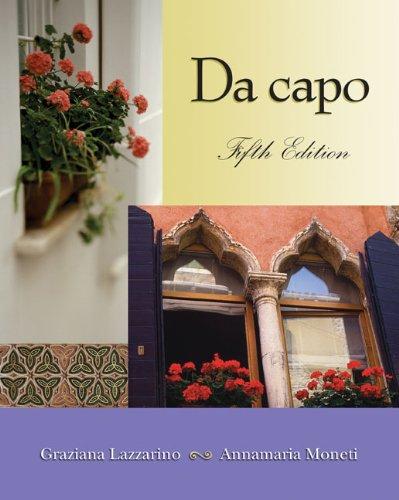 9780030341793: Da Capo: An Italian Review Grammar