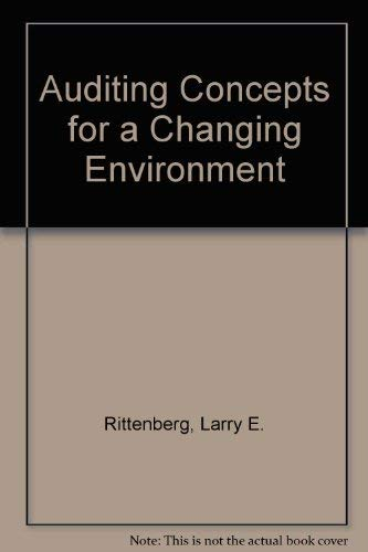 9780030342318: Auditing: Concepts for a Changing Environment