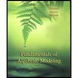 9780030343964: Fundamentals of Algebraic Modeling
