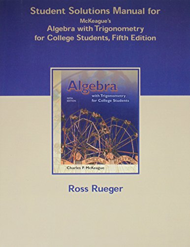 9780030344534: Student Solutions Manual for McKeague's Algebra with Trigonometry for College Students