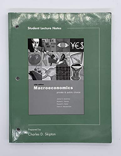 9780030344978: Student Lecture Notes to accompany Macroeconomics: Private and Public Choice