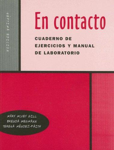 9780030345418: En Contacto Cuaderno de Ejercicios y Manual de Laboratorio