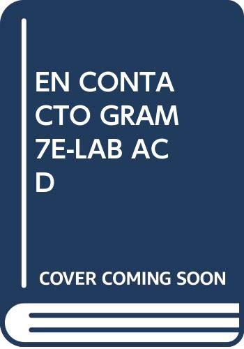 9780030345630: Lab Audio CD Program - En contacto Gramatica En Accion (Septima edicion)