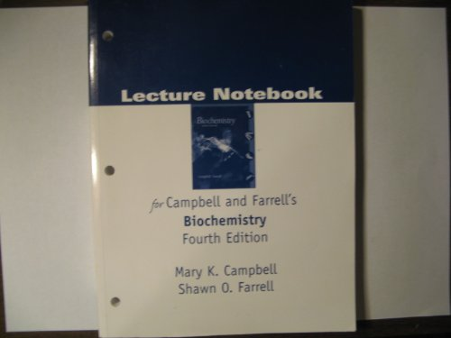 9780030349249: Lecture Notebook for Biochemistry