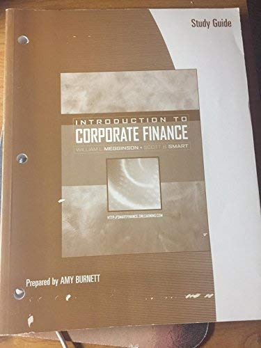 9780030350429: Study Guide for Megginson/Smart's Introduction to Corporate Finance