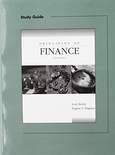 9780030350436: Principles of Finance Sg