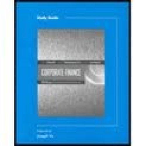 9780030351136: Study Guide to accompany Corporate Finance