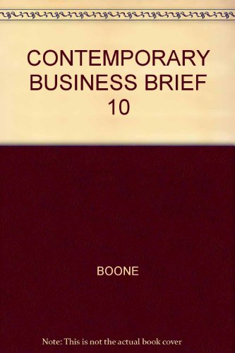 9780030351648: Contemporary Business Brief 10th