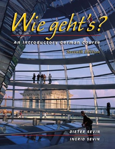9780030352539: Wie geht's?: An Introductory German Course (with Audio CD)
