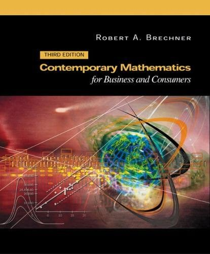 9780030353963: Contemporary Mathematics for Business and Consumers
