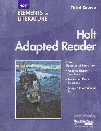 9780030354540: Elements of Literature: Adapted Reader Third Course