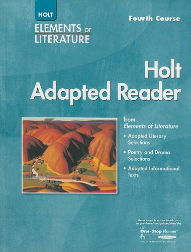 9780030354588: Elements of Literature: Adapted Reader Fourth Course