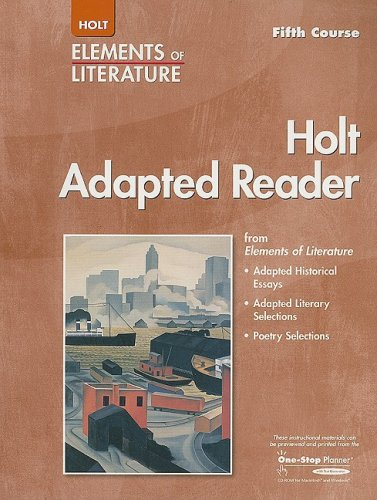 9780030354595: Elements of Literature: Adapted Reader Fifth Course