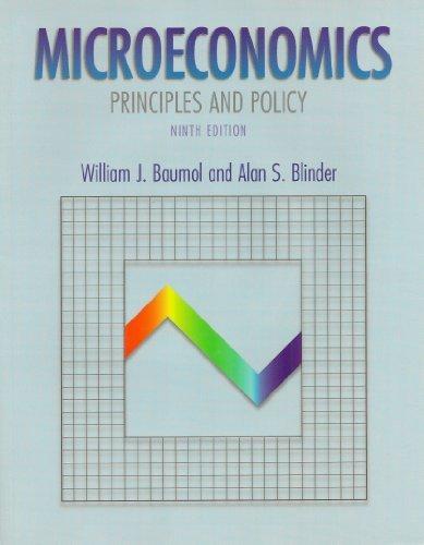 Study Guide to accompany Microeconomics : Principles: William J. Baumol,