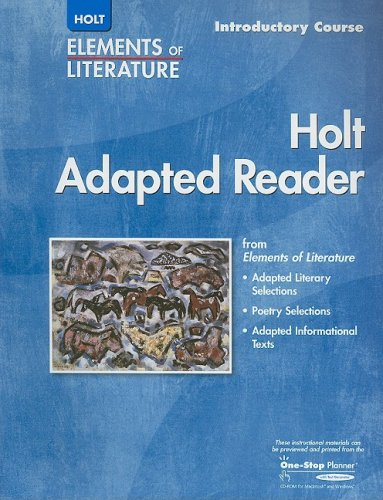 9780030357091: Elements of Literature: Adapted Reader Introductory Course