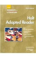 9780030357114: Elements of Literature: Adapted Reader First course