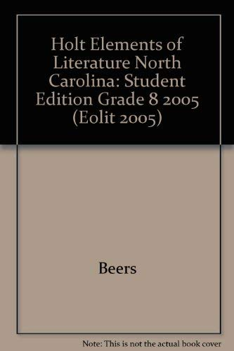 9780030357169: Elements of Literature:  North Carolina Edition, Second Course