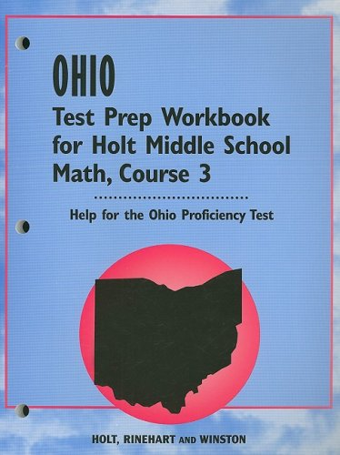 9780030358463: Holt Mathematics Ohio: Test Prep Workbook Course 3