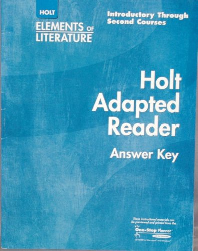 Holt Elements of Literature, Grades 6-8: Adapted Reader Answer Key