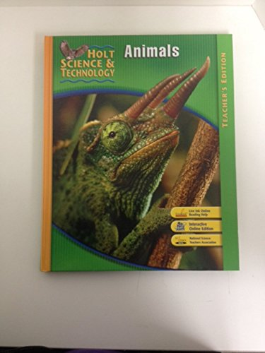 9780030359637: Holt Science and Technology: Animals, Teacher's Edition