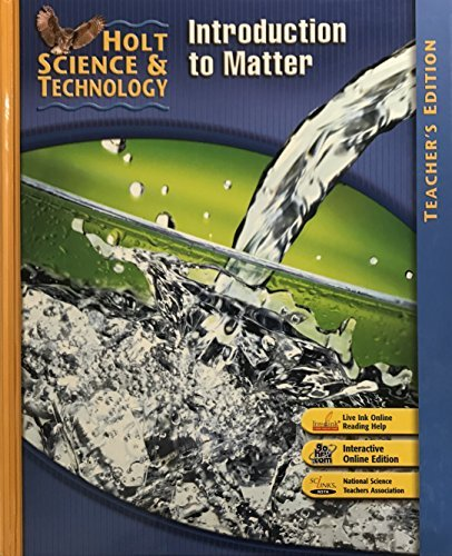 9780030359828: Holt Science & Technology: Teacher Edition K: Introduction to Matter 2007