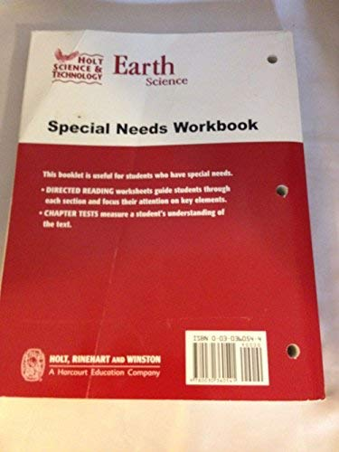 9780030360541: Holt Science & Technology: Special Needs Workbook First course