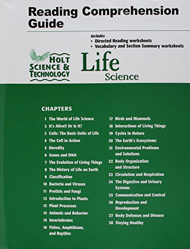 Holt Science Technology Life Science Reading And Comprehension