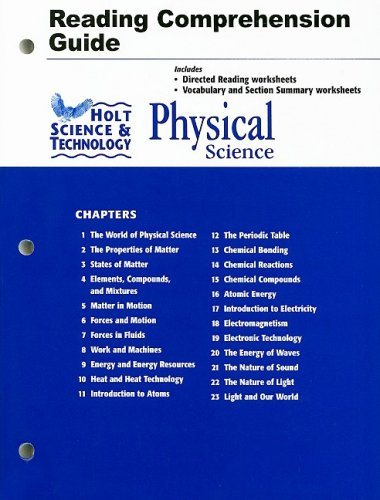 9780030360633: Holt Science & Technology: Physical Science: Reading and Comprehension Guide