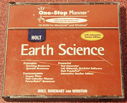 9780030363436: Holt Earth Science: Teacher?s One-Stop Planner CD-ROM