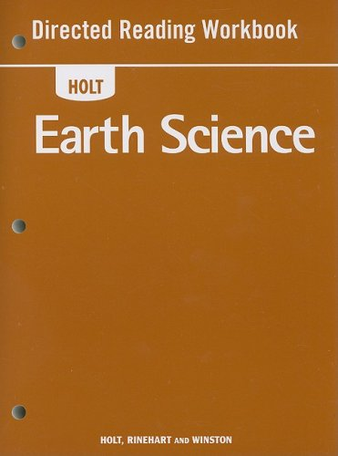 9780030363535: Holt Earth Science: Directed Reading Workbook
