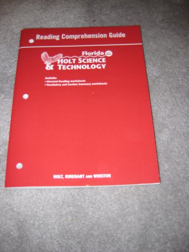 9780030364037: Holt Science & Technology Florida: Reading Comprehension Guide Grades 7 Life Science