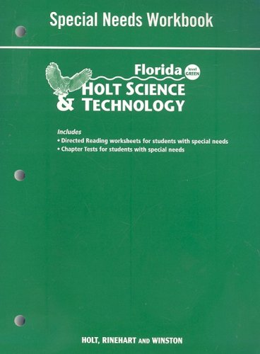 Holt Science & Technology Florida: Special Needs Workbook Grades 6 Earth Science: HOLT, ...