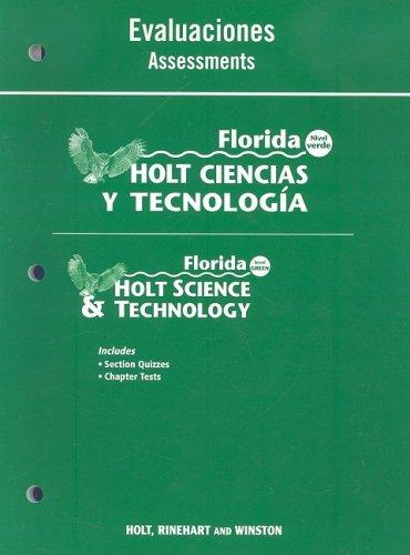 9780030364341: Florida Holt Ciencias y Tecnologia Evaluaciones/Florida Holt Science & Technology Assessments: Nivel Verde/Level Green (Spanish Edition)