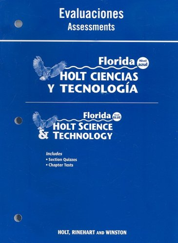 9780030364372: Florida Holt Ciencias y Tecnologia Evaluaciones/Florida Holt Science & Technology Assessments: Nivel Azul/Level Blue (Spanish Edition)