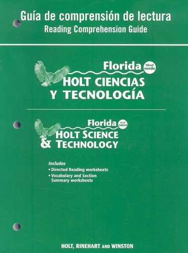9780030364464: Holt Science & Technology Florida: Spanish Reading Comprehension Guide Grade 6 Earth Science