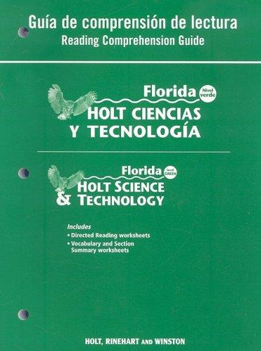 9780030364464: Florida Holt Ciencias y Tecnologia Guia de Comprension de Lectura/Florida Holt Science & Technology Reading Comprehension Guide: Nivel Verde/Level Gre