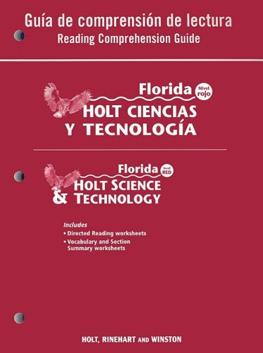 9780030364471: Holt Science & Technology Florida: Spanish Reading Comprehension Guide Grade 7 Life Science