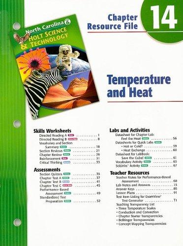 North Carolina Holt Science & Technology Chapter: Rheinhart And Winston
