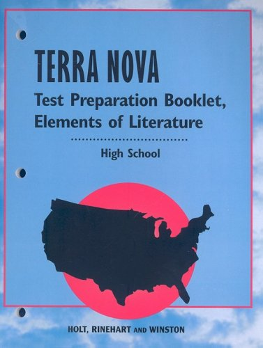 9780030366680: Holt Elements of Literature: Terra Nova Test Prep Booklet Grades 9-12