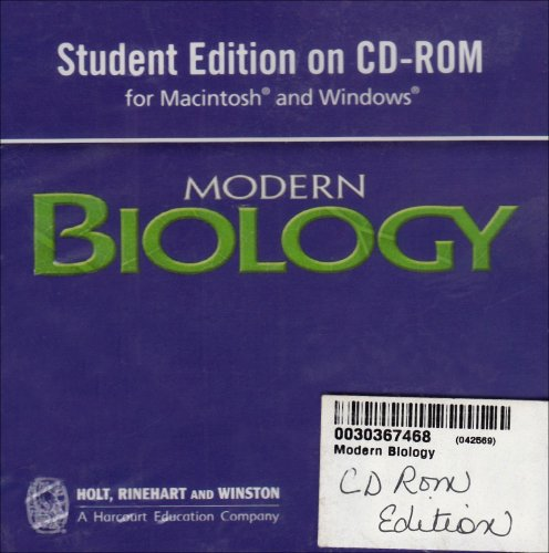 9780030367465: Modern Biology: Student Edition CD-ROM for Macintosh and Windows 2006